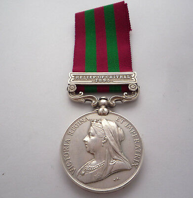 India General Service Medal Relief Of Chitral 1895 Clasp - 2Nd Seaforth High