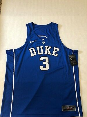 718679b5d6f Nike Duke Blue Devils Elite Authentic Basketball Jersey Sewn Stitched  3 Sz  XXL