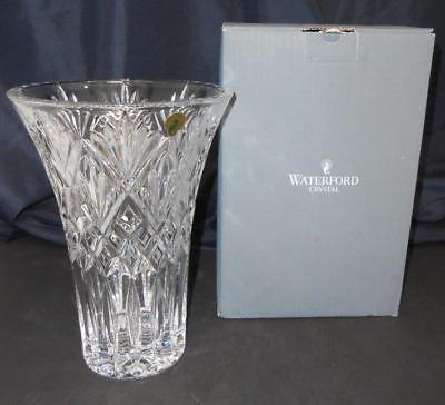 Waterford Seahorse Logo Large 10 Lead Crystal Cassidy Style Vase
