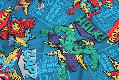 "Job Lot  69"" 5Ft 9"" Thor, Hulk,ironman  Marvel Fabric"