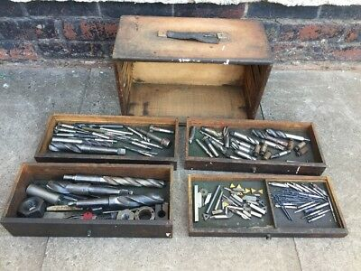 Joblot Of Used Engineering/Lathe/Milling Tools In 4 Drawer Chest