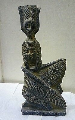 ANCIENT EGYPTIAN ANTIQUE ISIS Status of Wings Isis Stone 2686 – 2181 BC