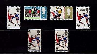 GB 1966 World Cup Stamps Full MNH set inc 'England Winners' Plus 2 Fine used 4d'
