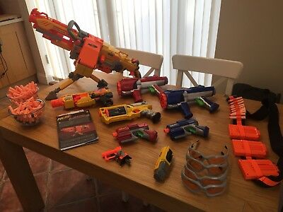 Nerf Guns, Darts and Accessories JOB LOT - Excellent condition.