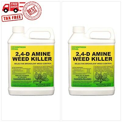 Southern Ag 2,4-D Amine Weed Killer Selective Broadleaf Weed Control, 32 Ounce -