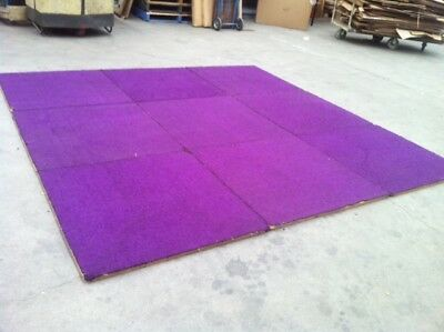 10 CARPET SQUARES TILES - TEMPORARY FLOORING OR LARGE MAN CAVE - 900 x 900 mm