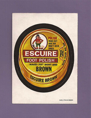 1973 OPC Wacky Packages 4th Series 4 ESCUIRE FOOT POLISH