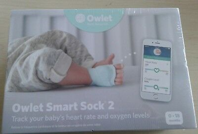 Owlet BM03NNBBYC Smart Sock 2 Baby Monitor - NEW IN SEALED BOX, FREE SHIPPING