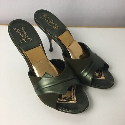 Vintage Ferncraft Exclusives O'Coonor & Goldberg 8 SpringOLator Heels 8AA Green
