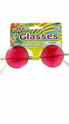 One Size Fits Most Womens Pink Hippie Glasses, Hot Pink Sunglasses