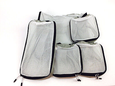 Slim Lightweight Packing Cubes By Ebags 5-pc Set Gray Mesh