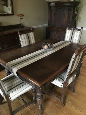 Antique Hand Carved Dining Room Set - Beautiful