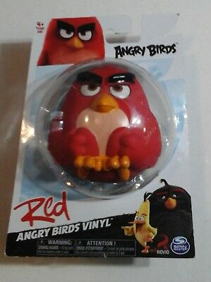 ANGRY BIRDS ACTION FIGURE Rovio RED BIRD Video Game Character VINYL FIGURE -NEW