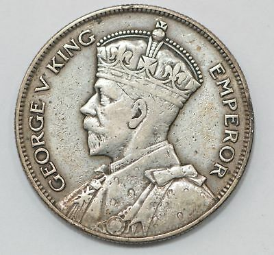 1935 New Zealand 1/2 Crown Silver Foreign Coin *411