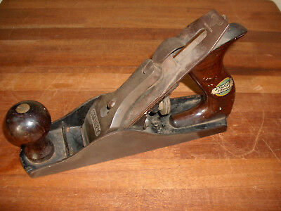 Vintage Stanley Bailey No.3 Wood Plane Smooth Bottom Type 13 1925 -1928 Nice ! !