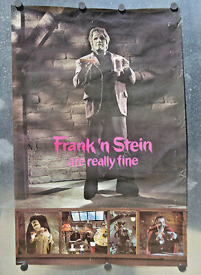 """VINTAGE ~ A&W Root beer ~FRANK N' STEIN ARE REALLY FINE""""~RARE POSTER~      vp53"""
