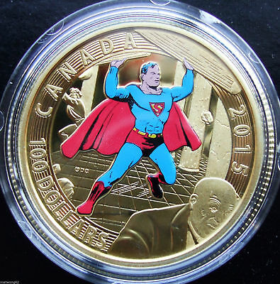 2015 Canada $100 14K Gold Coin Iconic Superman Comic Book Covers: #4 1940