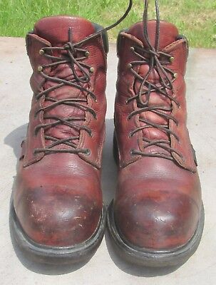 50c7a770b57 MEN'S RED WING 2406 Brown Leather Steel Toe EH Work Boots ~ Size 14 D / GUC!
