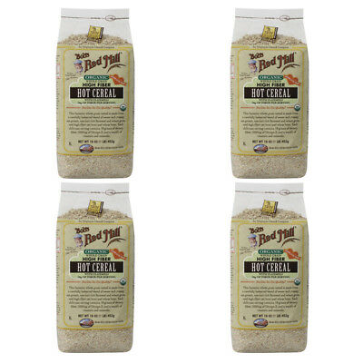 4X Bob's Red Mill Organic Whole Grain High Fiber Hot Cereal Flaxseed Breakfast