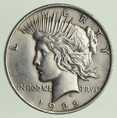 Early - 1922 - Peace Silver Dollar - 90% US Coin *007
