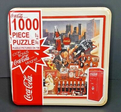 "Coca-Cola 1,000 Piece Puzzle w/ Collector Tin ""Coke History"" NEW"