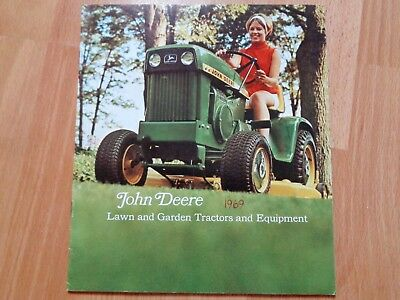 John Deere 1968 110 112 140 lawn & garden tractor brochure 32 pages good **