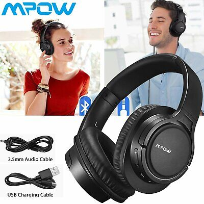 Mpow H7 Wireless Bluetooth Noise Cancelling Headphones Wired Earphone Headset DW