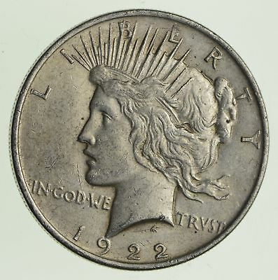 Over 90 Years Old! 1922 Peace Silver Dollar - 90% Silver *993