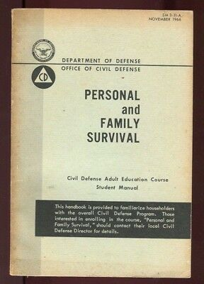 Nov 1966 PERSONAL AND FAMILY SURVIVAL Fallout Shelters NUCLEAR WAR attack