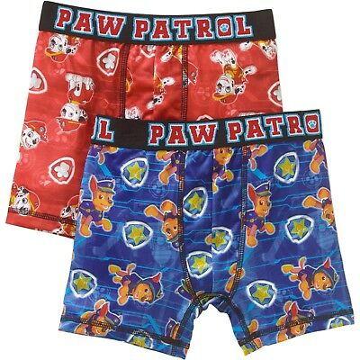 Paw Patrol Boys Boxer Briefs 2 Pack Size Small 6-7 Moisture Wicking NEW