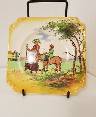 Royal Doulton D5027 Gypsy Travellers  series ware  dish tea plate