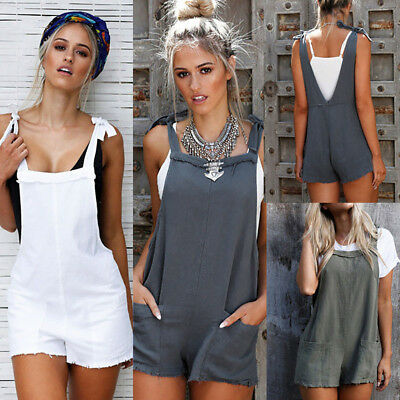 Fashion Women Straps Jumpsuits Overalls Shorts Pants Romper Trousers Playsuits
