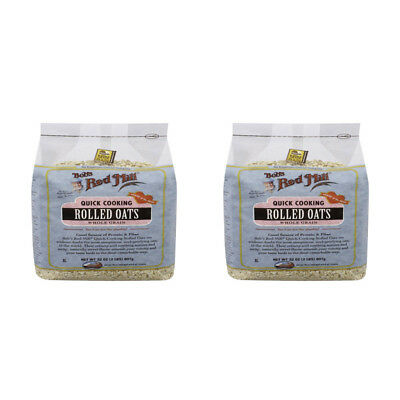 2X Bob's Red Mill Quick Cooking Rolled Oats Whole Grain Nutrient Rich Cereals