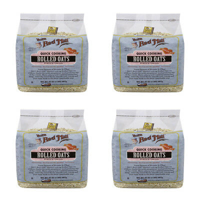 4X Bob's Red Mill Quick Cooking Rolled Oats Whole Grain Nutrient Rich Cereals