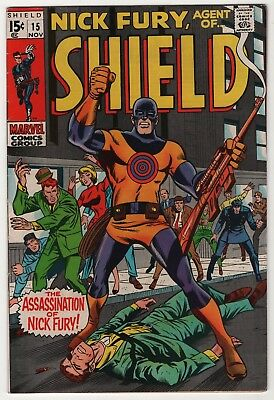 Nick Fury Agent of SHIELD #15 higher grade 1st appearance Bullseye 1969 Marvel