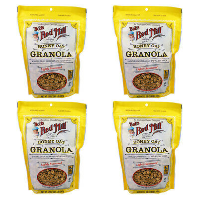 4X Bob's Red Mill Honey Oat Granola Cereals Breakfast Foods Gluten Free Lunch