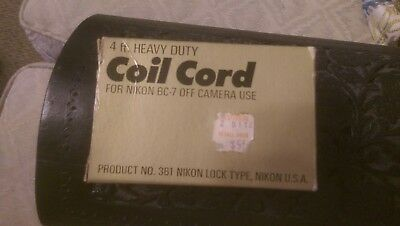 Coil Cord 4 Ft SYNC CORD FOR NIKON FLASH UNIT BC-7 New Old Stock