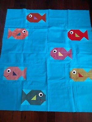 Unfinished Fish Quilt Top