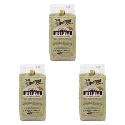 3X Bob's Red Mill 7 Grain Hot Cereal Breakfast Flaxseed Baking Cooking Daily