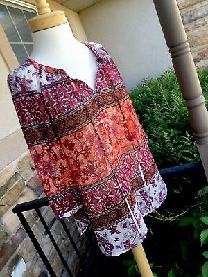 A Pea In The Pod Maternity Blouse Top Sz Small Multicolored NEW 3/4 sleeve, Cool
