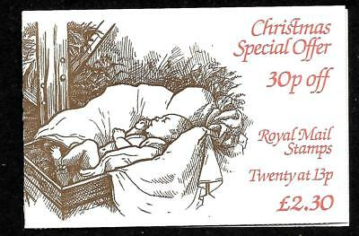 1984 FOLDED FX7 BOOKLET CHRISTMAS  20 X 13p CLASS STAMPS UNMOUNTED MINT