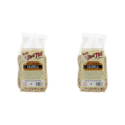2X Bob's Red Mill Organic Whole Grain Apple Cinnamon Granola Cereal Breakfast