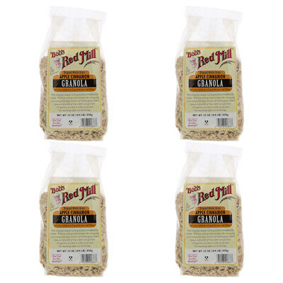 4X Bob's Red Mill Organic Whole Grain Apple Cinnamon Granola Cereal Breakfast