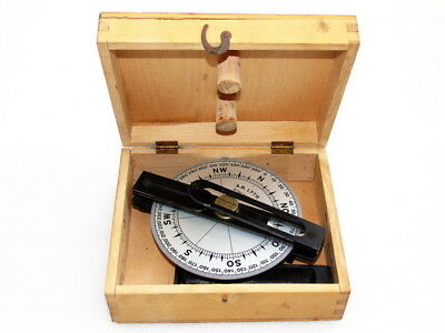 Vintage A B Lyth Stockholm Marine Ships Boat Yacht Dry Compass With Box
