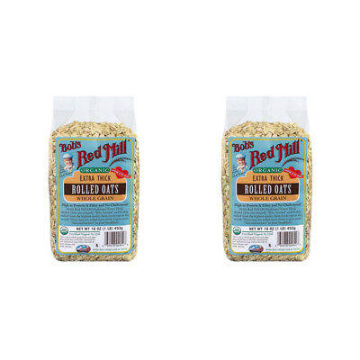 2X Bob's Red Mill Organic Extra Thick Rolled Oat Body Care Health Food Grocerie