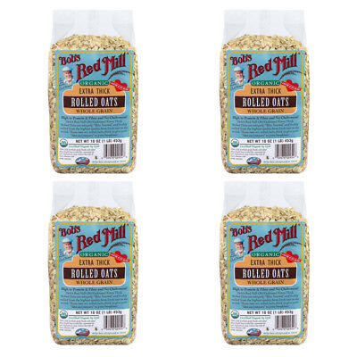 4X Bob's Red Mill Organic Extra Thick Rolled Oat Body Care Health Food Grocerie