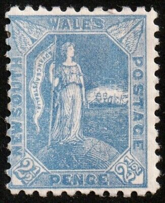 Australia New South Wales 1890 #89 2 & 1/2 Pence Ultramarine Mlh