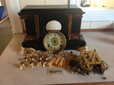 Antique Vintage Sessions 8-Day Wind-Up Mantel Clock  Restoration Project