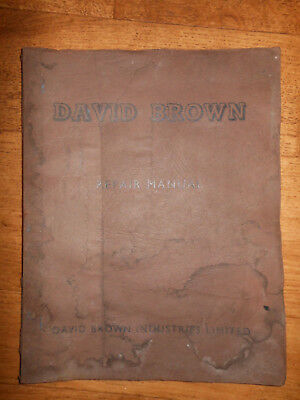 David Brown Diesel Engine Cad4/30 Ad4/30H Ad4/25H Vintage Repair Workshop Manual