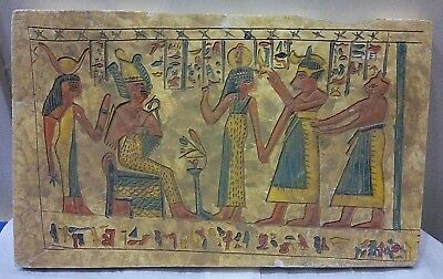 ANCIENT EGYPTIAN ANTIQUE RAMSES Offering Lotus Stela Relief 1274-1244 BC